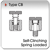 Type CB - Self-Clinching Spring-Loaded