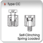 Type CC - Self-Clinching Spring-Loaded