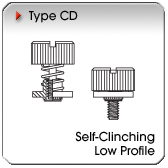 Type CD - Self-Clinching Low Profile