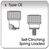 Type CE - Self-Clinching Spring-Loaded