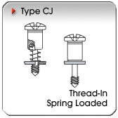 Type CJ - Thread-In Spring-Loaded