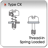 Type CK - Thread-In Spring-Loaded